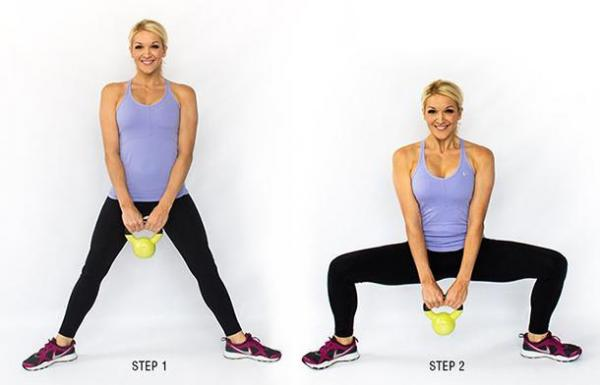 How to do squats for glutes - Step 4