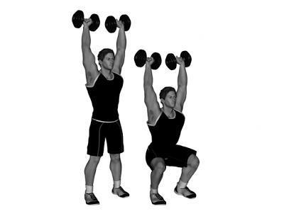 How to do dumbbell squats - Step 4