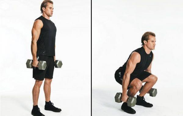 How to do dumbbell squats - Step 2