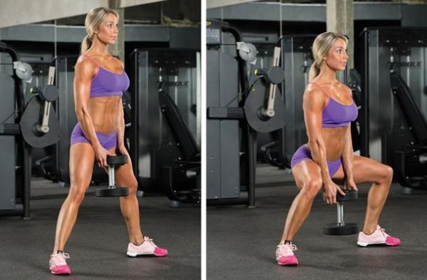 How to Do Dumbbell Squats - Step 5