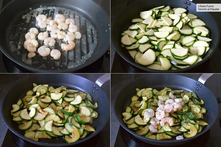 Stir-fry squashstep